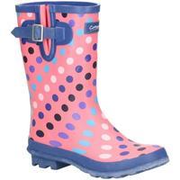 Schuhe Damen Gummistiefel Cotswold  Pink/Punkte