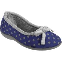 Schuhe Damen Hausschuhe Sleepers Polka Marineblau
