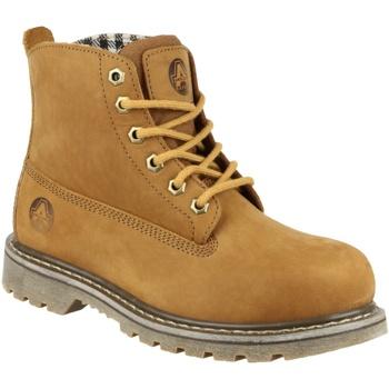 Schuhe Damen Boots Amblers FS103 Tabak
