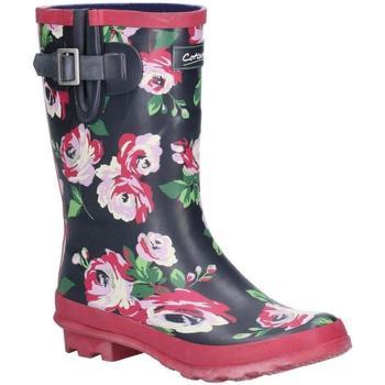 Schuhe Damen Gummistiefel Cotswold  Schwarz/Blumen