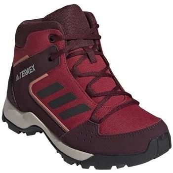 Schuhe Kinder Wanderschuhe adidas Originals Hyperhiker K Dunkelrot,Rot