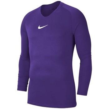 Kleidung Herren Langarmshirts Nike Dry Park First Layer Violett