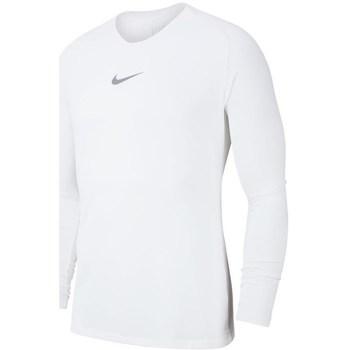 Kleidung Herren Langarmshirts Nike Dry Park First Layer Weiss