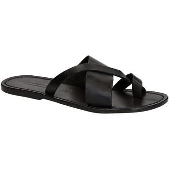 Schuhe Herren Zehensandalen Gianluca - L'artigiano Del Cuoio 545 U NERO CUOIO nero