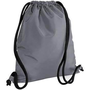 Taschen Kinder Sporttaschen Bagbase BG110 Graphitgrau/Schwarz