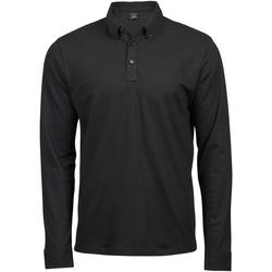 Kleidung Herren Langärmelige Polohemden Tee Jays TJ1412 Schwarz