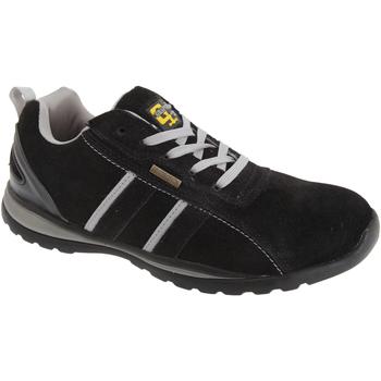 Schuhe Herren Sneaker Low Grafters  Schwarz/Grau