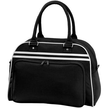 Taschen Sporttaschen Bagbase BG75 Schwarz/Weiß