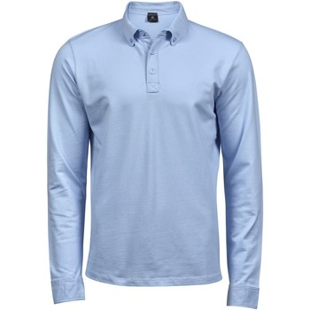 Kleidung Herren Langärmelige Polohemden Tee Jays TJ1412 Hellblau