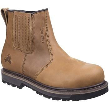 Schuhe Damen Stiefel Amblers  Hellbraun