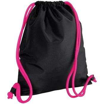 Taschen Kinder Sporttaschen Bagbase BG110 Schwarz/Fuchsia