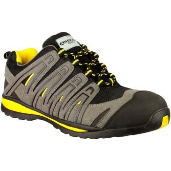 Schuhe Herren Sneaker Low Amblers 42C S1P HRO Schwarz/Grau/Gelb