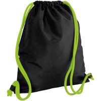 Taschen Kinder Sporttaschen Bagbase BG110 Schwarz/Limette