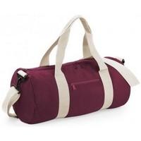 Taschen Reisetasche Bagbase BG140 Burgunder/Off Weiß