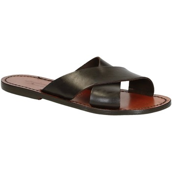 Schuhe Herren Sandalen / Sandaletten Gianluca - L'artigiano Del Cuoio 560 D MORO CUOIO Testa di Moro