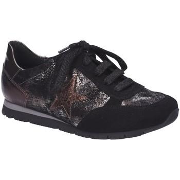 Schuhe Damen Sneaker Low Semler Schnuerschuhe Rosa R5213863952 schwarz