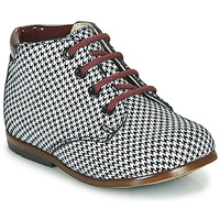 Schuhe Mädchen Boots GBB TACOMA Schwarz / Weiss