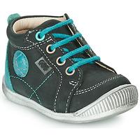 Schuhe Jungen Boots GBB OLAN Schwarz / Blau