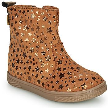 Schuhe Mädchen Boots GBB ERNA Cognac