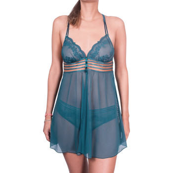 Kleidung Damen Pyjamas/ Nachthemden Luna Gotische Babydoll blau Blau