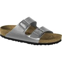 Schuhe Pantoffel Birkenstock & Co.kg Birkenstock Pantolette Arizona BF silver Gr. 35 - 43 1012283 Other