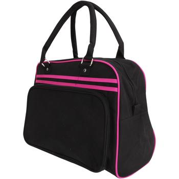 Taschen Sporttaschen Bagbase BG75 Schwarz/Fuchsia