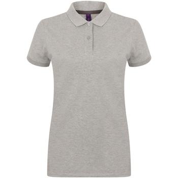 Kleidung Damen Polohemden Henbury HB102 Grau meliert