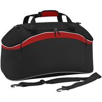 Taschen Sporttaschen Bagbase BG572 Schwarz/Rot/Weiß