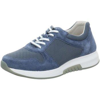 Schuhe Damen Sneaker Low Rollingsoft By Gabor Schnuerschuhe Rolling Soft 66-946-34 blau