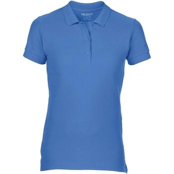 Kleidung Damen Polohemden Gildan 85800L Blau