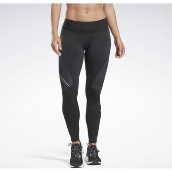 Kleidung Damen Leggings Reebok Sport One Series Running Logo Reflective Tight Noir