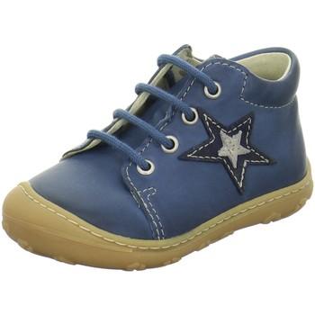 Schuhe Jungen Babyschuhe Ricosta Schnuerschuhe Romy Lauflernschuh 1222500-141-Romy blau