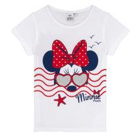 Kleidung Mädchen T-Shirts TEAM HEROES MINNIE Weiss