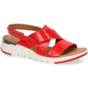Schuhe Damen Sandalen / Sandaletten Caprice Sandaletten flache Plateau-Sandale 9/9-28700-24 555 rot