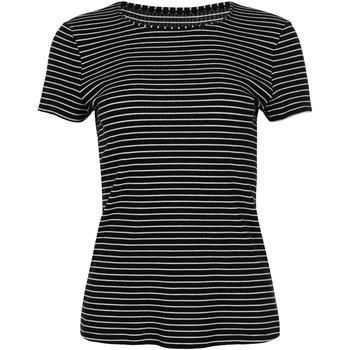Kleidung Damen T-Shirts Lisca Romantik  Wange kurzärmeliges T-Shirt Perlschwarz