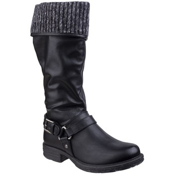 Schuhe Damen Klassische Stiefel Divaz  Schwarz