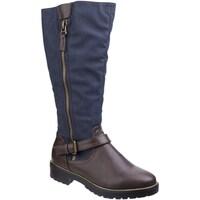 Schuhe Damen Klassische Stiefel Divaz  Braun/Blau