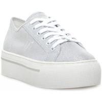 Schuhe Damen Sneaker Low Windsor Smith RUBY CANVAS METALLIC TREAD SILVER Grigio