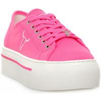 Schuhe Damen Sneaker Low Windsor Smith RUBY CANVAS NEON PINK Rosa