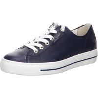 Schuhe Damen Sneaker Low Paul Green Schnuerschuhe Schnürhalbschuh 4960-046 blau