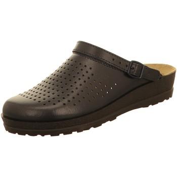 Schuhe Herren Pantoletten / Clogs Beck Offene Hausschuh 7003/05 blau