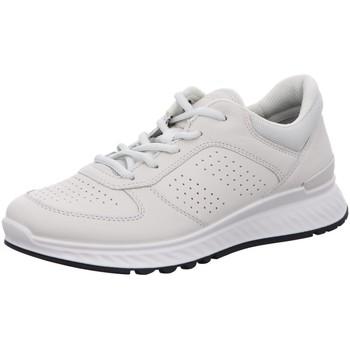 Schuhe Damen Sneaker Low Ecco Schnuerschuhe Komfort Schnürhalbschuh EXOSTRIDE W 835313-01152 weiß