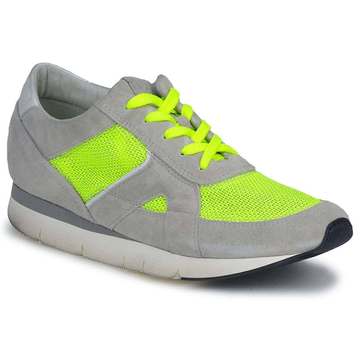 OXS GEORDIE Grau / Gelb - Kostenloser Versand bei Spartoode ! - Schuhe Sneaker Low Damen 109,50 €