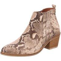 Schuhe Damen Low Boots Dna Stiefeletten Western-Stiefelette 514513 beige animal