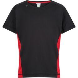 Kleidung Kinder T-Shirts Regatta  Schwarz/Rot