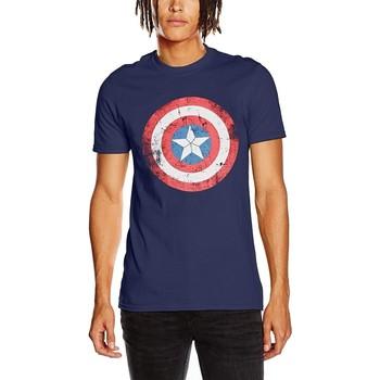 Kleidung T-Shirts Captain America  Blau