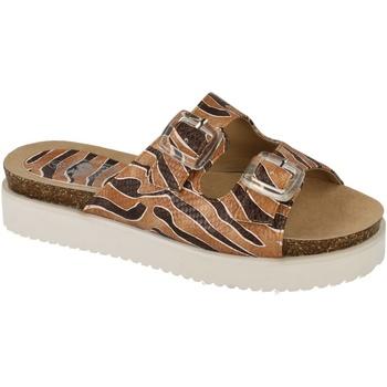 Schuhe Damen Pantoffel Down To Earth  Tan/Braun