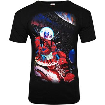 Kleidung T-Shirts Deadpool  Schwarz