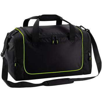 Taschen Sporttaschen Quadra QS77 Schwarz/Limonengrün