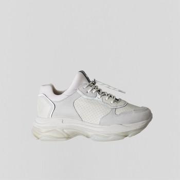 Schuhe Damen Sneaker Low Bronx Chaussures femme  Baisley Suede blanc cassé